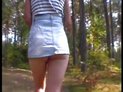 Julia sexy walk in forest