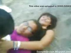 Guys fucks his girlfriend infront of friends in public- indian sex tube