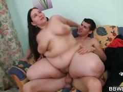 Bbw slut rides big cock