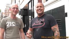 Dutch hooker guzzles jizz amateur