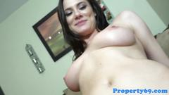 Busty realtor fucked after cash offer