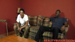 Big black dick thugs corey and shawn fucking hard on couch