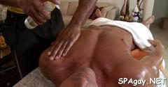 Wild bed sex with gays film segment 1