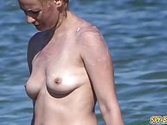 Boobs amateur beach milfs