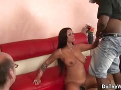 Hot milf pornstar takes big black dick for husband