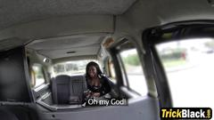 Fantastic ebony slut with big booty sucking and fucking in the van