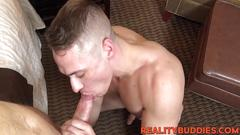 Cute straight dude with sexy ass gets railed in hotel room