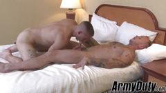 Dirty army twinks love fucking each other after hard drills