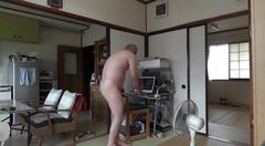 asian, masturbation, daddy, naked, old, japanese, jerking off