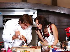 Jean val jean cooks up the minge of aria
