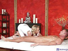 Footjob from the masseuse