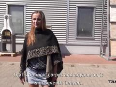 Takevan - free-hug teen show her monster natural tits to stranger who fuck her