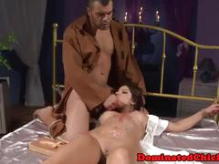 Lovely submissive assfucked and facialized