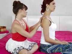 Massaging my sexy stepmom! - jayden cole, alison rey