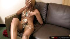 blonde, blowjob, dancing, hairy, handjob, hd, thai, tranny, ladyboy, messy