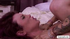 Attractive cougars river stark and ts foxxy