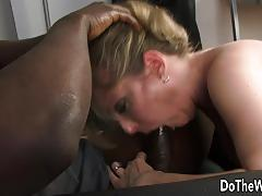 Lya pink interracial and facial while hubby watches