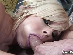 Super sexy blonde fucked hard and deep