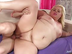 blowjob, hardcore, blonde, chubby, bbw, chunky, plumper, cum in mouth