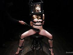 bdsm, babe, redhead, whipping, vibrator, device bondage, bondage box, device bondage, kink, the pope, amarna miller