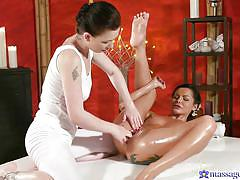 She allowed the masseuse to continue