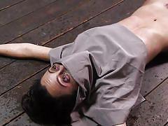 Brutal orgasm during suffocation