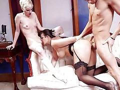blonde, threesome, anal, bdsm, babe, domination, busty, big butt, pussy licking, the upper floor, kink, xander corvus, penny barber, mercy west