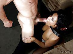 Busty ebony makes the most out of her coffee brake @ big tit office chicks