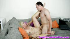 Cocksucking granny pussyfucked in many poses