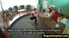 Gorgeous beauty screwed by doctor
