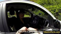 Brit spex amateur cocksucking cop outdoors