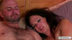 Horny ts gina hart fucks hot partner david chase straight in his bubble butt