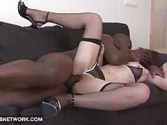 Randy babe loves big black cock