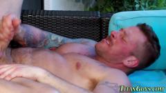 big cock, bear, muscle, cumshot