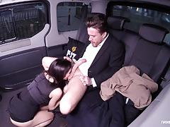Horny babe lullu gun fucks in the car
