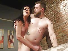 Shemale cums all over a horny dude