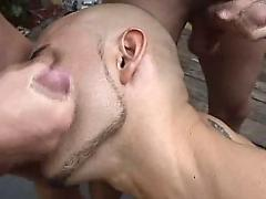Gay facials cum eating