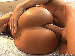 anal, big, ass, dicks, threesome, oil