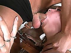 Jule gets a mouthful big cock sucking from a stud