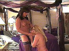 Amateur shemale bangs her wifes ass with her thick cock.