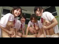 Surrounded by sex crazed japanese schoolgirls