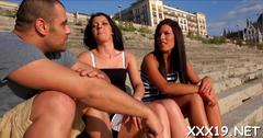 Double penetration for euro slut film clip 1