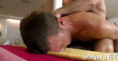 Raucous massage with gays blowjob clip 4
