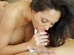 Busty brunette ava addams interrupts phone call for fuck
