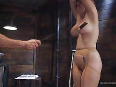 Lauren gets fucked while hanging from the ceiling