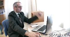 Horny teacher devouring lass amateur video 3