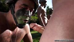 Muscular military mens penis gay xxx taking the recruits on their first run