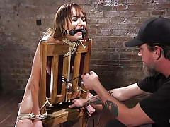 babe, slave, domination, vibrator, tied up, hanged, bondage device, mouth gag, rope bondage, hogtied, kink, the pope, charlotte cross