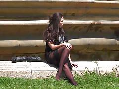 threesome, babe, outdoor, street, public sex, brunette, from behind, dick sucking, sexy lingerie, public disgrace, kink, steve holmes, pablo ferrari, melody petite, frida sante