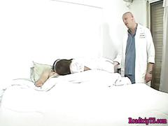 Tgirl nurse squirted with cum after anal